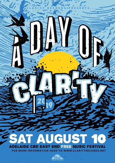 a day of clarity 2019, community event, fun things to do, clarity records sa, free music festival, entertainment, musicians, live music, community event, fun things to do, date night, night out, camp cope, west thebarton, clowns, jen cloher solo, outright, the beautiful monument, loose tooth, hexdebt, dark fair, canine, bec stevens, summer flake, hana & jessie-lee's bad habits, the lodge, crown and anchor, the exeter, chateau apollo, rhino room, golden wattle, roxies