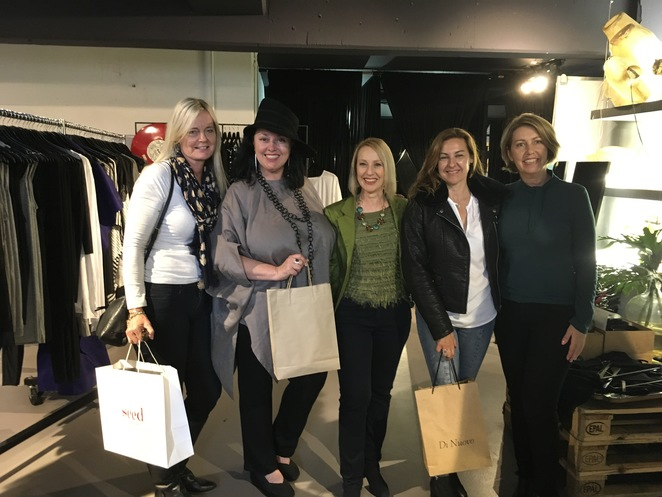 A group of ladies out having fun at a Personal Stylist Shopping Tour