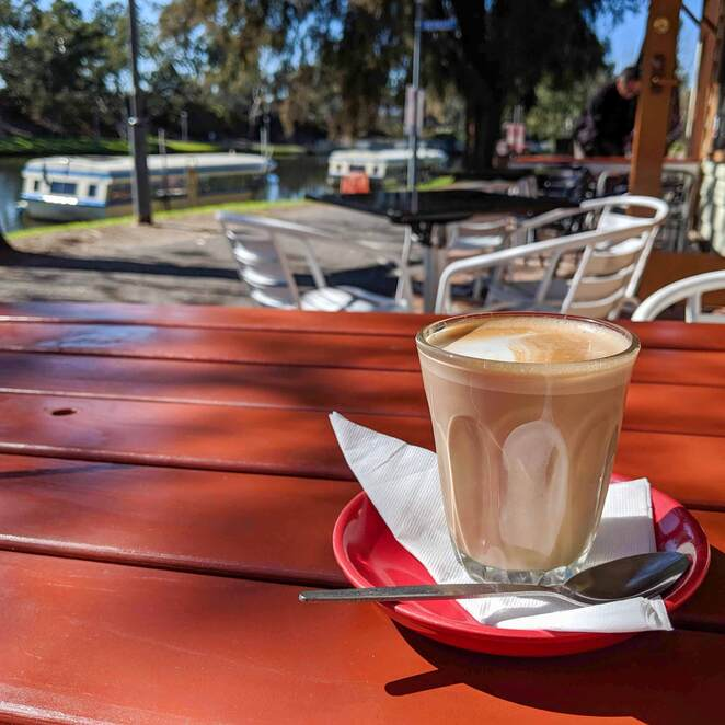 adelaide, coffee, food, wine, torrens river, lounders boat shed