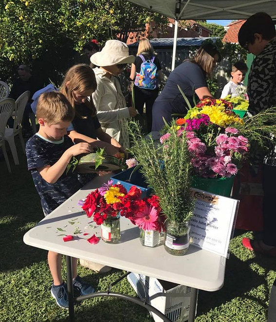 ANZAC Day Sunset Service at ANZAC Cottage 2018. Children can make a wreath to place at the flagpole during the ceremony.