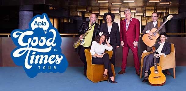 Apia Good Times Tour, Greedy Smith, Mental as Anything, Apia, Colin Hay, Men at Work, Vika and Linda Bull, Black Sorrows