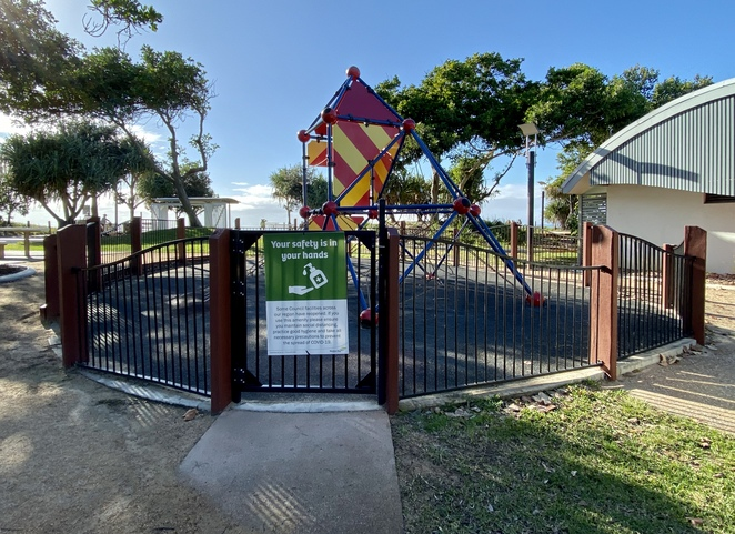 The fully fenced playground means parents can relax at Bluey Piva Park