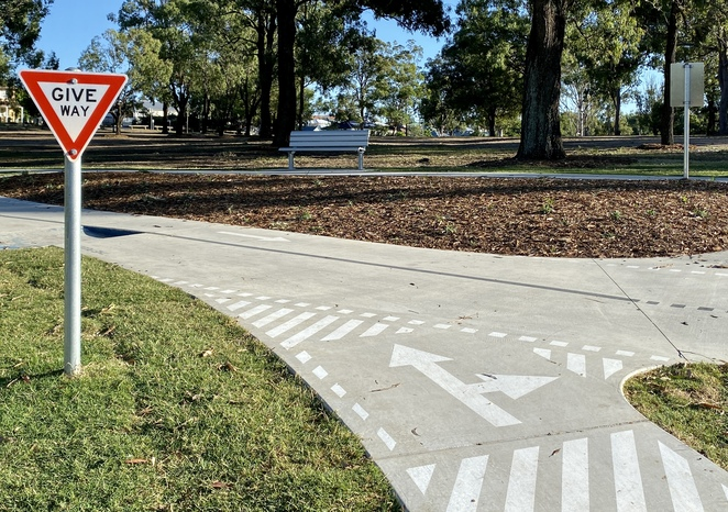 Miniature road signs add an educational aspect to the new track