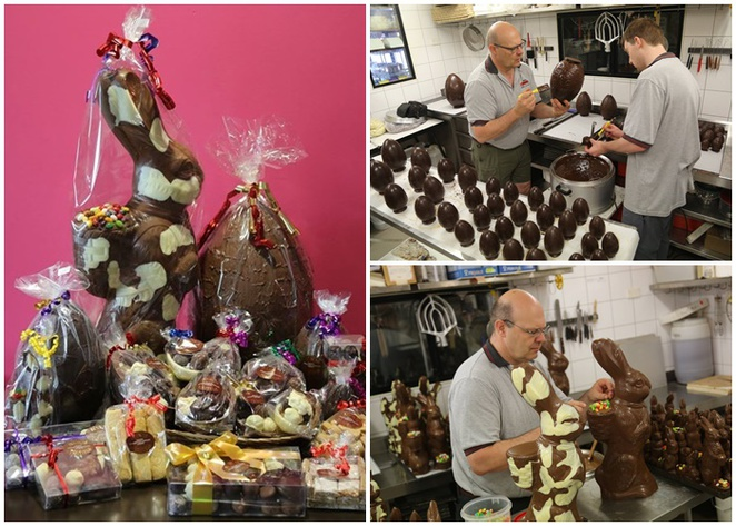 bruno's truffles, canberra easter eggs, easter rabbits, hand made, swiss, chocolatier,