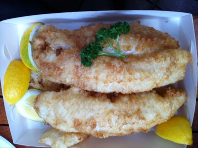 Bubs Fish and Chips at Nelson Bay
