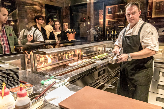 burnt ends kitchen and bar, char grilled, fire pit, barracks, burntends, coal-fired, skewers, baos, bar