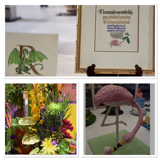 Calligraphy, flower arranging, cake baking, cakes, Sydney Royal Easter Show, hobbies,