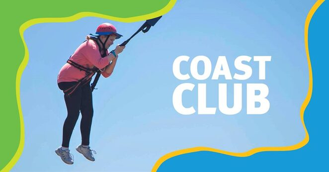 Coast Club School Holiday Adventure Activities, Sunshine Coast, school holidays, parents and families welcome, Rock Face, indoor rock climbing, canoeing, caving, giant swing, archery, surfing, daredevils, morning sessions, afternoon sessions, full day sessions, fencing, body boarding, surfing, alpine rescue, kayaking, catapults, vertical climbing, stand-up paddle boarding, pool games, register early