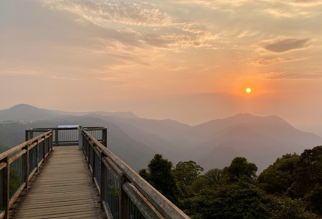 Sunrise from Dorrigo Skywalk