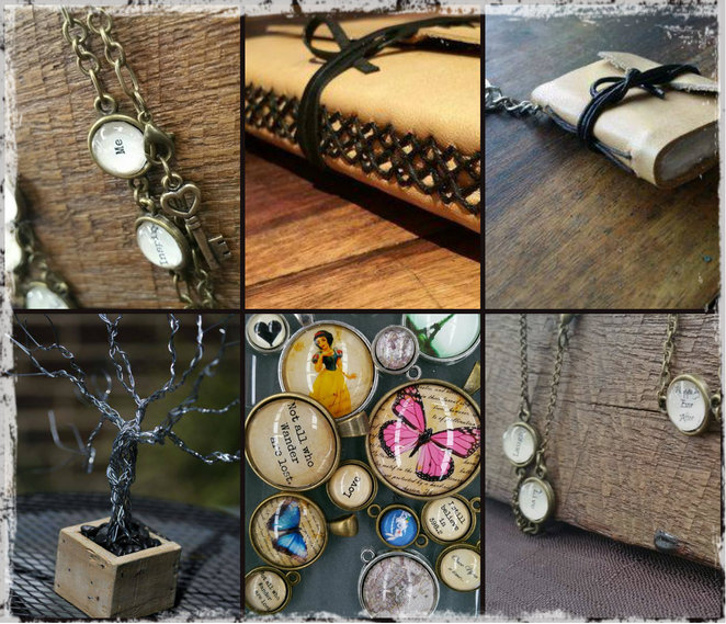 elysian workshop, jewellery, leather, bound books, charms, charm bracelets, jewellery stand, wallets, bound books