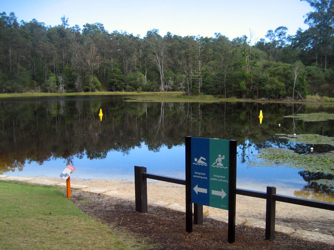 The swimming area at Lake Enoggera