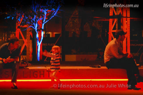 Gasworks, light show, Brisbane by Night, Newstead, Gasworks Plaza,