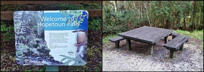 Hopetoun Falls, Waterfall, Otways, Great Otway National Park, Colac, Bush Walk, Walk, Hiking, Walking track, Hike, Picnic spot, Picnic Table, Interpretive Sign,