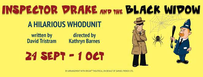 Inspector Drake and the Black Widow, The Lind Theatre Nambour, Closing Night Gala Event, a night of murder, mystery and hilarity, whodunit?