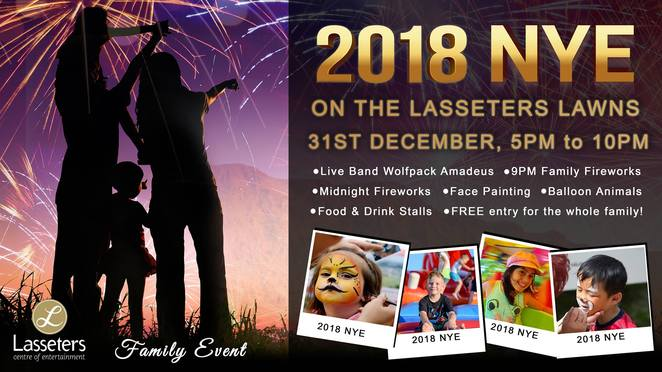 lasseters, casino, new year, midnight, new year's eve, lawns, fireworks, wolfpack amadeus, live music, food, drink