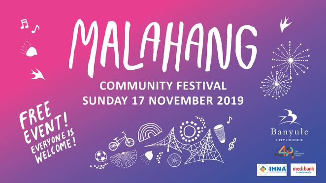 malahang community festival 2019, banyule city council, malahang reserve, community event, fun things to do, entertainment, performances, family fun, free festival, lowanna's creations, banyule has talent heats, bundoora primary school, celestial tai chi, banyule has talent finals, st pius primary school, greek dance fitness, opacize, fashion parade, call to prayer, keynote singers, dirgirl meet and greet, lion dance, australia zhong hua qun yi lion dance association, nuholani polynesian performers, djirri djirri dancers with yidarki, welcome to country, exiled on high street band, nikki sterel barefoot flamenco, food and drink, free face painting, henna tattoos, seedling giveaways, eggie swap, circus workshops, make your own dream catcher, kids fruit kebab drop in workshop, sensory cafe, soccer games