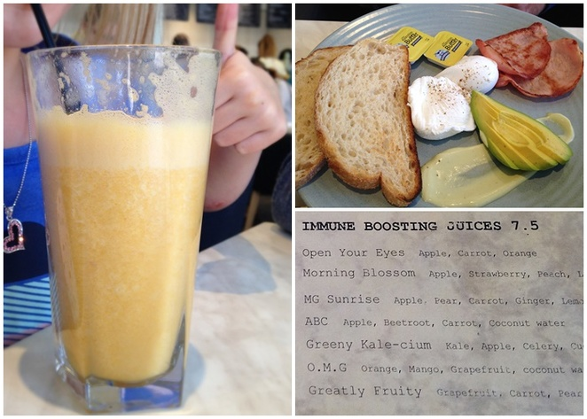 milligram cafe, canberra, tuggeranong, greenway, organics, breakfast, muesli, ACT, fruit, brunch, immune juice, OMG,