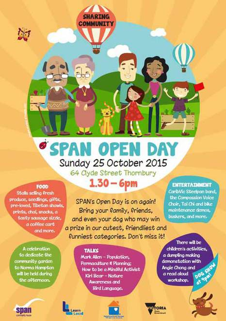 open day, melbourne, SPAN, community centre