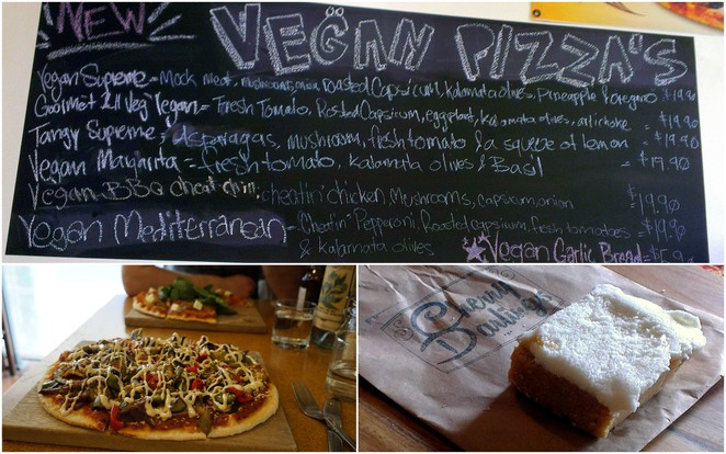 papa mias wood oven pizza, earths kitchen pizza, cherry darlings cruelty free bakehouse, vegan food adelaide