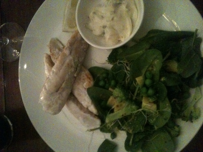 Grilled fish and Super Salad