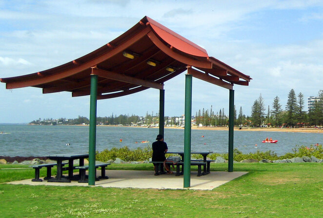 Walk, cycle or just relax on the beach front in Redcliffe