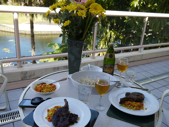Lunch at your own private balcony