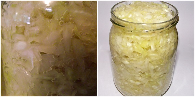 sauerkraut, home made, easy recipe, how to make sauerkraut, basic sauerkraut recipe, fermented, gut health, cabbage, salt, jar, bacteria, wooden spoon, into jar, put in jar, squash down, water, bubbles, fizz,