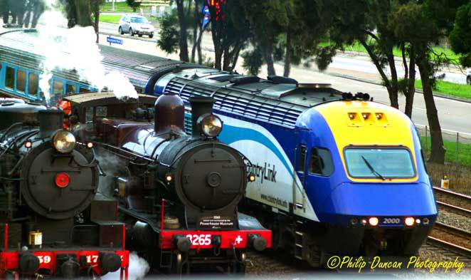 Steam Trains, Xpt, 3 Locos