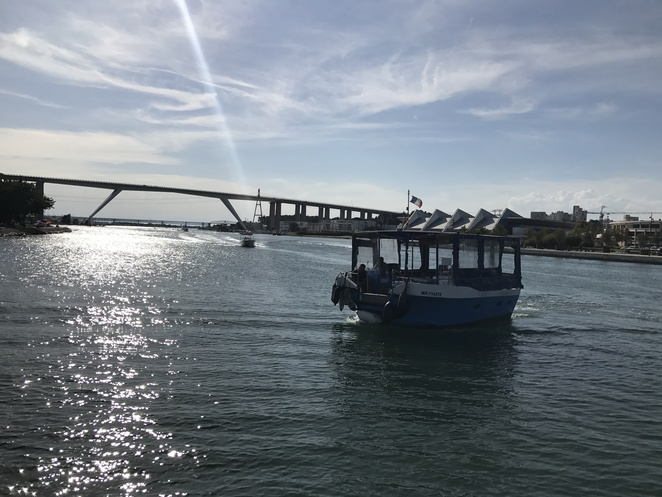 The free shuttle boat in Martigues