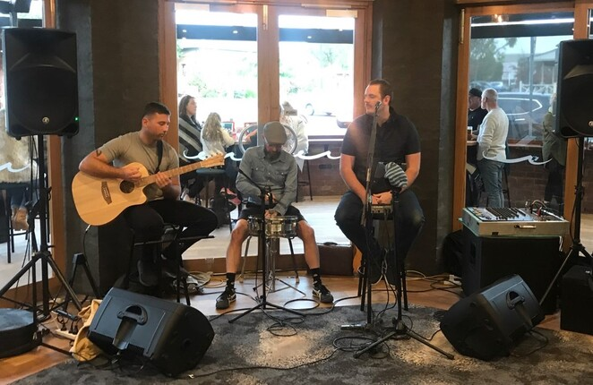 The grand reopening featured a line-up of local musicians