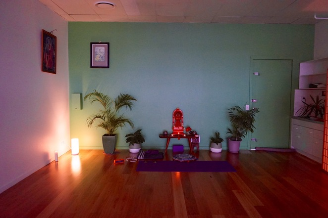 The tranquil setting of the Yoga Sanctuary