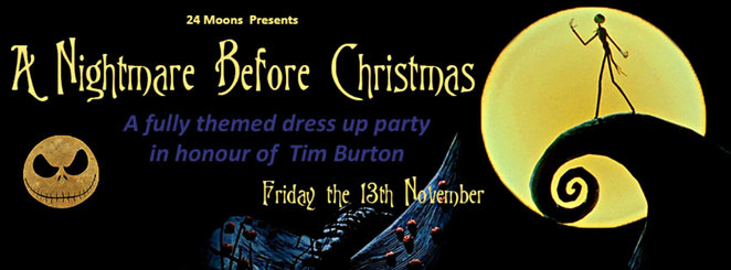 tim burton, a nightmare before christmas, themed costume party, 24 moons, dress up, fancy dress party, rose chong