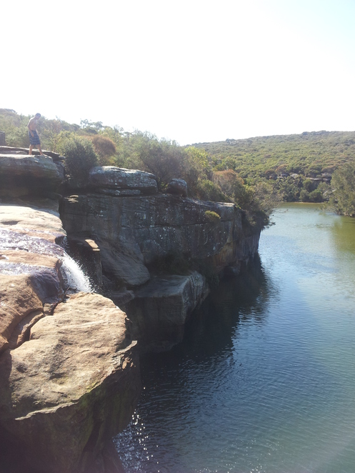 Wattamolla creek australia royal national park jump rock
