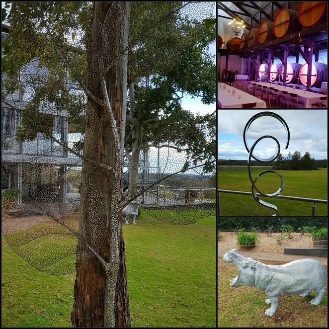 Winery, scenery, Hunter Valley, Brewery, sculptures, art
