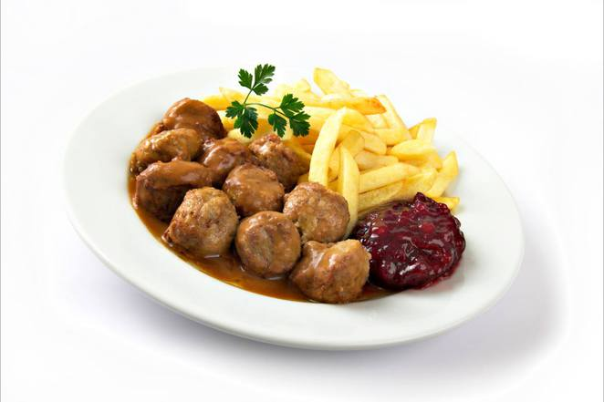 Old favourite menu option, meat balls at Ikea