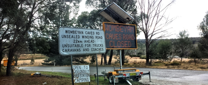 Wombeyan Caves Road closed
