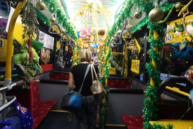 A decorated bus