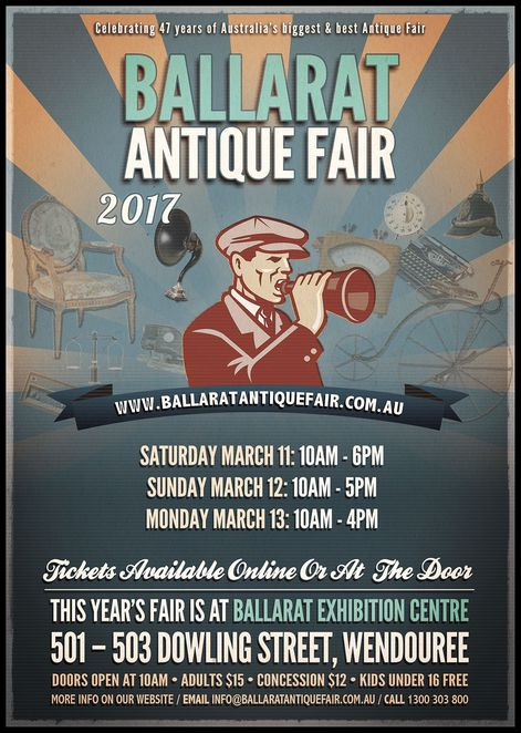 ballarat antique fair, ballarat exhitition centre, vintage, treasures, community event, shopping, fun things to do, country drive, collectors, market, festival