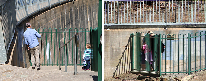 Whispering messages at the Barossa Reservoir Whispering Wall