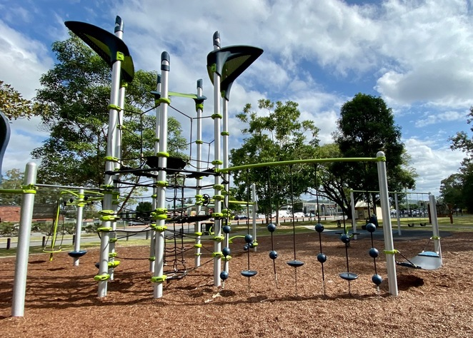 The Netplex playground features amazing climbing features suitable for a variety of ages