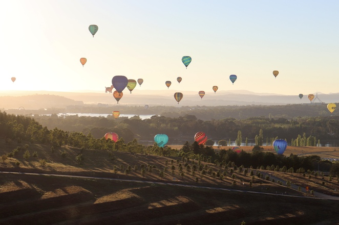 Canberra Balloon Spectacular, hot air balloons, Canberra, Canberra events and festivals, enlighten festival, things to do in Canberra