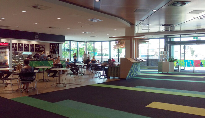 The cafe at Chermside Library
