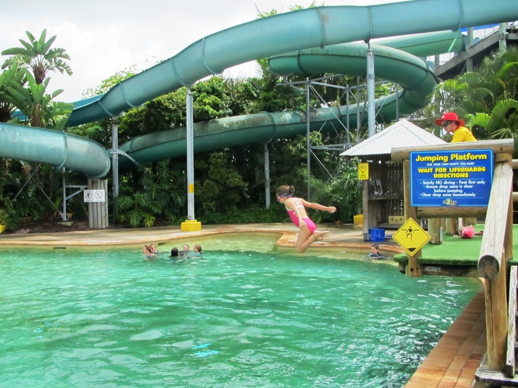 Indoor pool with waterslide  Chermside Swimming Pool & Water Park - Brisbane