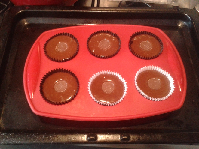 chocolate and salted caramel cupcakes, Rolo cupcakes