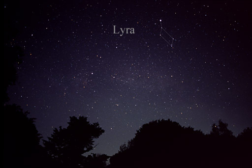 Constellation Lyra, as seen with the naked eye