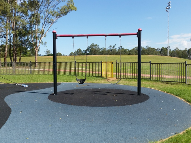 Coronation Park Netball Complex, minto, netball courts, children's play area