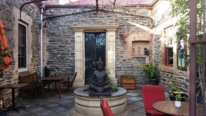 Courtyard, health, wellness, wellbeing, retreat