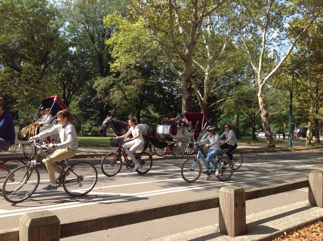 cycling in Central Park