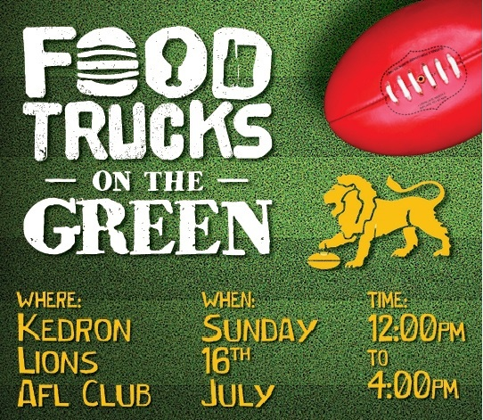 food trucks, on the green, kedron, lions afc, food, beer, live music, family friendly