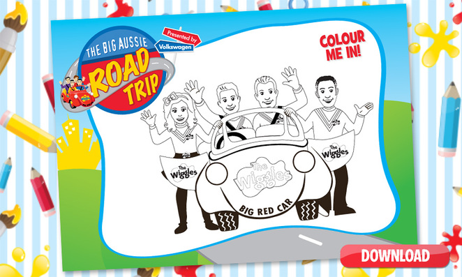 free printable, The Wiggles, Colouring in